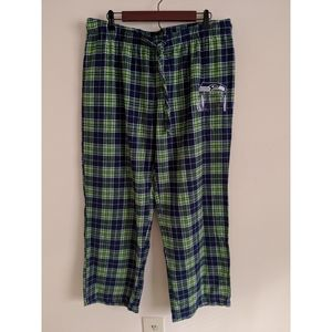 Seattle Seahawks Green Blue Plaid Pajama Pants XL